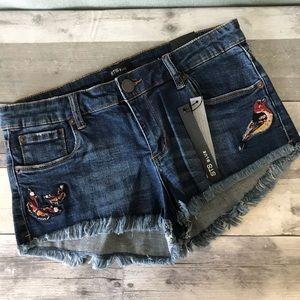 STS Blue Embroidered Cutoff Denim Shorts - 240